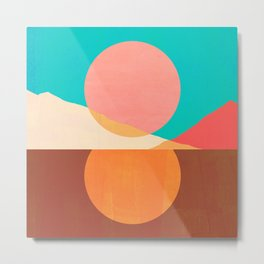 Abstraction_SUN_MOON_REFLECTION_DAY_NIGHT_POP_ART_M2007A Metal Print