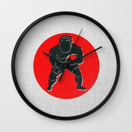 Rugby R Wall Clock