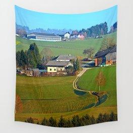 Beautiful traditional farmland scenery II | landscape photography Wall Tapestry