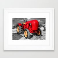 porsche Framed Art Prints featuring Porsche Tractor by Rob Hawkins Photography