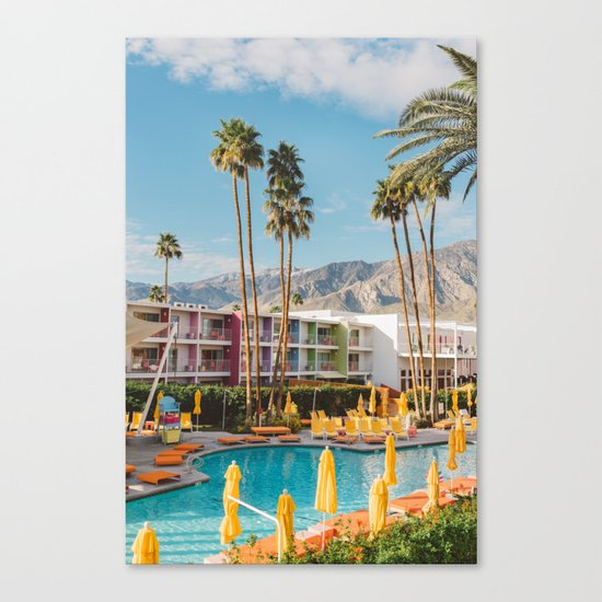 Palm Springs Saguaro Canvas Print