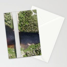 Bridge and a waterfall aerial photography Stationery Cards