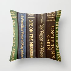 Old Books - Square Twain Throw Pillow