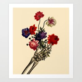 Send Flowers Art Print