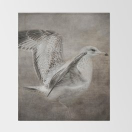 Dance of the Lone Gull Throw Blanket