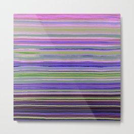 Purple stripes pattern Metal Print