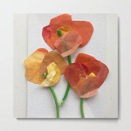 Paper Poppies Metal Print