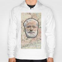 hemingway Hoodies featuring Ernest Hemingway by steam