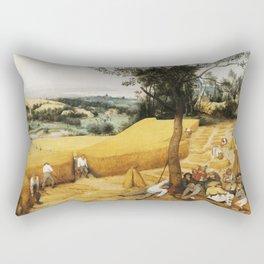 The Harvesters by Pieter Bruegel the Elder, 1565 Rectangular Pillow