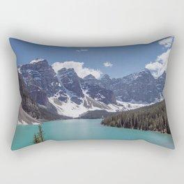 Lake Moraine Top View Rectangular Pillow