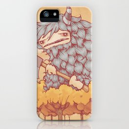 巨大的柴夫 (Great Firewood Husband) iPhone Case
