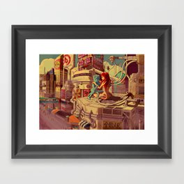 Heart In The City Framed Art Print