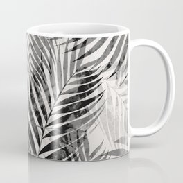 Palm Leaves - Black & White Coffee Mug