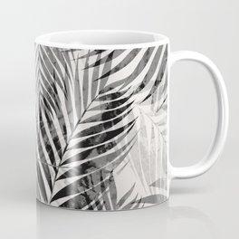 Palm Leaves - Black & White Coffee Mug