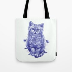 Staring cat Tote Bag