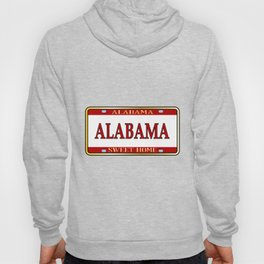 Alabama State Name License Plate Hoody