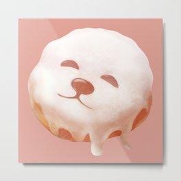Smile Dog Donut Metal Print