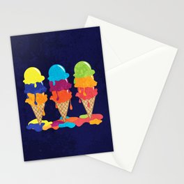 Colorful Ice Cream  Stationery Cards