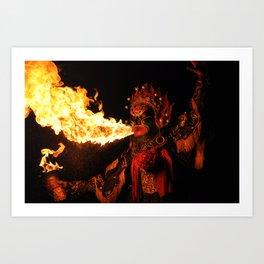 Fire Breathing Art Print