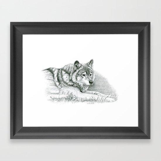Wolf G036 Framed Art Print