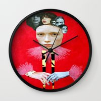 baroque Wall Clocks featuring Baroque by Mimi Rico