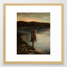 Something About Silence Framed Art Print