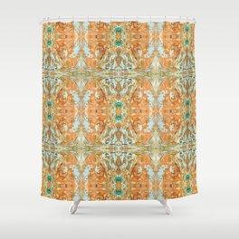Humming Bird Orange Shower Curtain