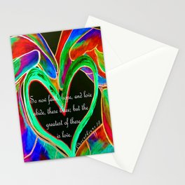 The Greatest of These is Love Stationery Cards