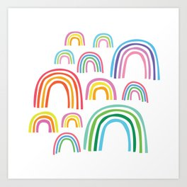 Rainbow Cuties Art Print