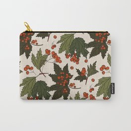 Berry rowan winter floral print  Carry-All Pouch