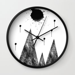Full Moon and Stars high above the Mountains Abstract Wall Clock