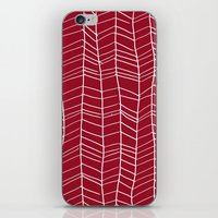 herringbone iPhone & iPod Skins featuring Herringbone  by Rachelmel1