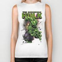 hulk Biker Tanks featuring Hulk by WaXaVeJu