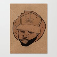 j dilla Canvas Prints featuring dilla donuts by Rashida Chavis
