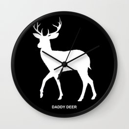 best dad | deer Wall Clock