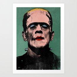 The Fabulous Frankenstein's Monster Art Print