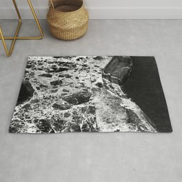 Black and White Luxurious Marble Art Rug
