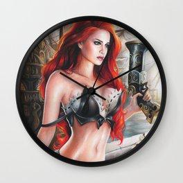 Redhead Wall Clock