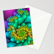 Spiral Blossoms Stationery Cards