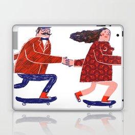 skate couple Laptop & iPad Skin