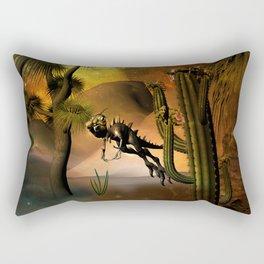 Funny little dinosaur Rectangular Pillow