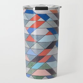 Triangle Pattern No. 7 Diagonals Travel Mug