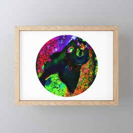 Colorful Shark Terror Framed Mini Art Print