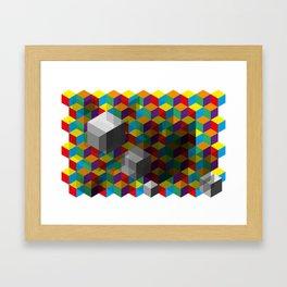 Isometric Colour Framed Art Print