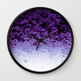 Purple Crystal Ombre Wall Clock