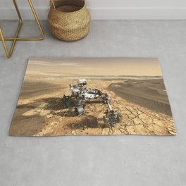 This is a Mars Rover Portrait, 2020 Mars Exploration, NASA, Outer Space Rug