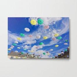 Colourful Umbrellas Metal Print