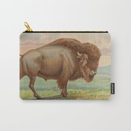 Vintage Illustration of a Buffalo (1890) Carry-All Pouch