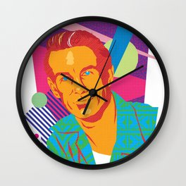 LARRY :: Memphis Design :: Miami Vice Series Wall Clock
