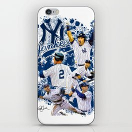 Derek Jeter #2 - NY Yankees - The Captain - Unique Artwork iPhone Skin